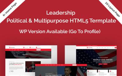 Leadership Political HTML5 Website Template