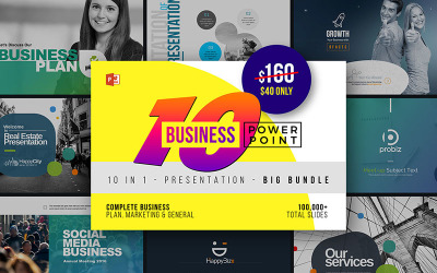 Modèle PowerPoint de 10 meilleures affaires PowerPoint