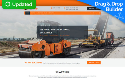 Highwayz - Road Construction Moto CMS 3 Template