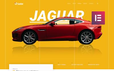 Luxor - тема WordPress для тюнинга автомобилей Elementor