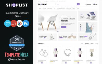 Shoplist - Mega Mağaza OpenCart Şablonu