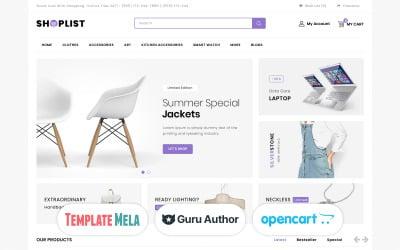 Shoplist - Modello OpenCart per Mega Store