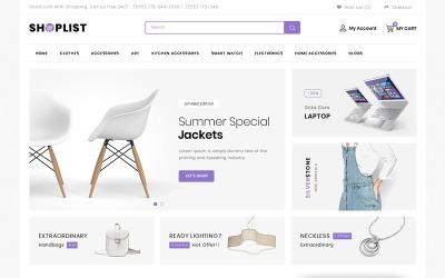 Список магазинів - шаблон OpenCart Mega Store