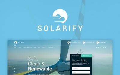 WordPress motiv Solarify - alternativní ekologická energie