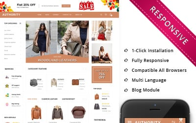Authority - Leather Store Responsive OpenCart Template