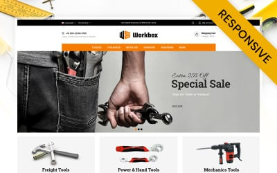 Work Box - Tools Store OpenCart Template