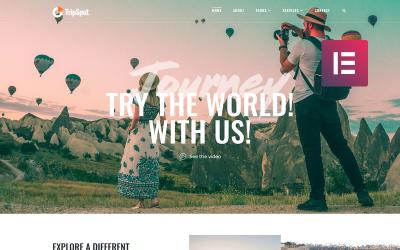 TripSpot - Seyahat WordPress Elementor Teması