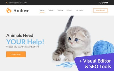 Anilove - Animal Shelter Moto CMS 3 Template