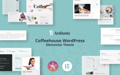 Arabusta - Kávézó WordPress Elementor téma