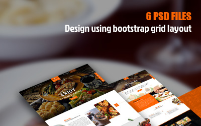 Delicacy - Универсальный PSD шаблон ресторана
