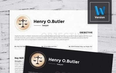 Henry O. Butler - Modèle de CV d'avocat