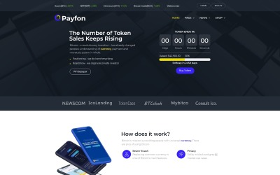 Payfone - тема елемента WordPress ICO