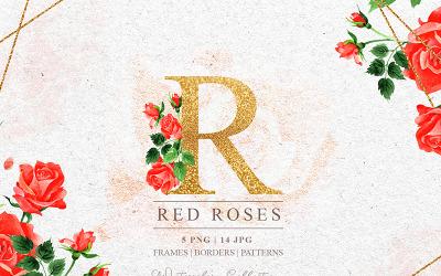 R-Rose PNG Sulu Boya Seti - İllüstrasyon