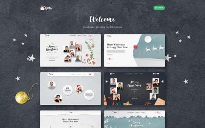 Gifter - Gratulationskort HTML-målsidesmall