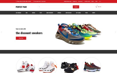 Perfect Pair - Sneakers Shop OpenCart Template