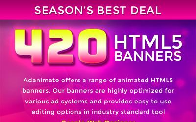 Balíček prémiových bannerů - 420 animovaných bannerů HTML5 Animovaný banner