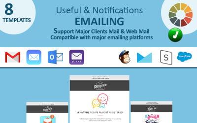Nützliche Benachrichtigungen E-Mail-Newsletter-Vorlage