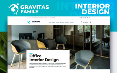 Gravitas - Interior Design Moto CMS 3 Template