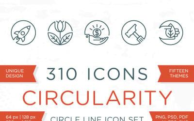 Circulariteit - Circle Line Icons Set