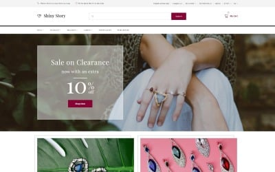 Shiny Story - Jewelry OpenCart Template