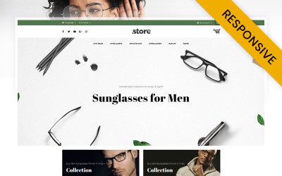 Eye Wear - Glasses Store OpenCart Template