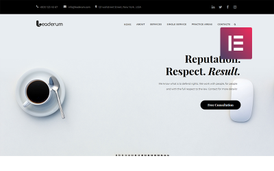 Leaderum - Minimal Business WordPress Elementor Theme