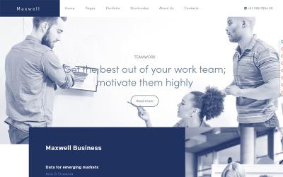 Maxwell üzleti Joomla sablon