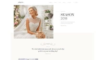 Alegria - Тема весільного салону Elementor WooCommerce