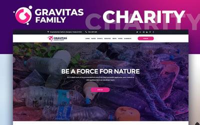 Gravitas - Charity MotoCMS 3 Landing Page Template