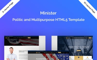 Minister-Political & Multipurpose Responsive Landing Page Template