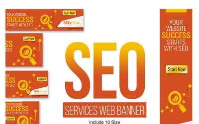 SEO Services网站横幅和广告动画横幅