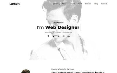 Larson - Minimal Portfolio Landing Page Template