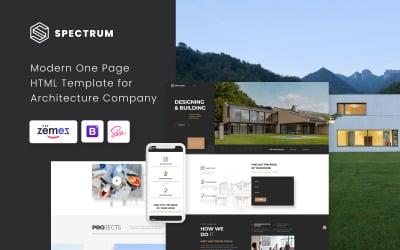 Spectrum - Arquitectura Plantilla de página de destino HTML moderna de una página