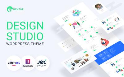 Nektop - Tasarım Stüdyosu Çok Amaçlı Yaratıcı WordPress Elementor Teması