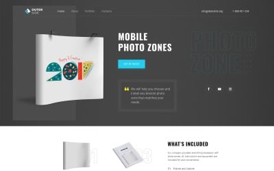 Outer Side - Photo Zones One Page Modern HTML Landing Page Template