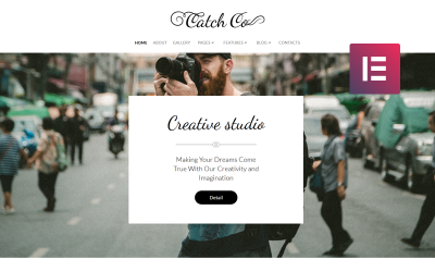 Catch Co - багатоцільова творча тема WordPress Elementor Photo Studio