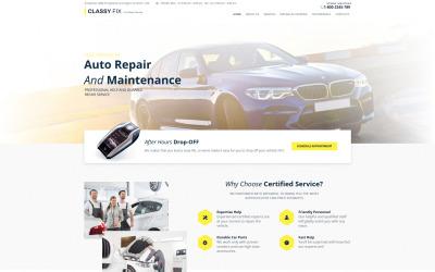 Classy Fix - Car Repair Moto CMS HTML Template
