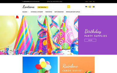 Lantiana - Party Supplies MotoCMS Ecommerce Template