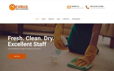 Evrus - Carpet Cleaning and Disinfection WordPress Theme