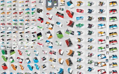 Minden egyben Nyomtatásra kész nyomtatás - 320+ tétel - Vállalati-azonosság sablon