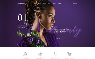 Relish Ruelle - Beauty Multipage Clean HTML Website Template