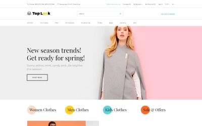 Top Look - Fashion & Beauty Creative OpenCart Template