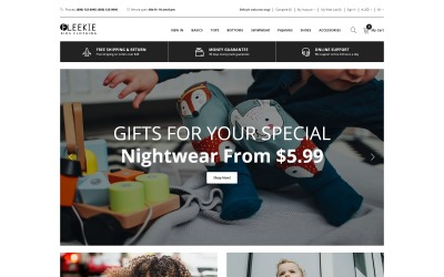 Fleekie - Kids Fashion & Clothing Clean OpenCart Template