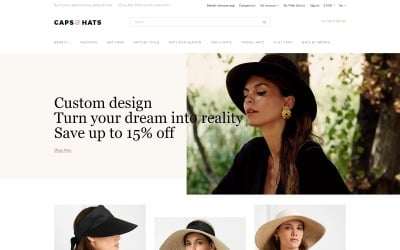 Caps & Hats - Stylish Clean Responsive Bootstrap OpenCart Template