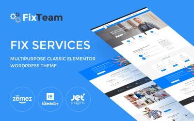 FixTeam - Fix Services Multipurpose Classic WordPress Elementor Theme