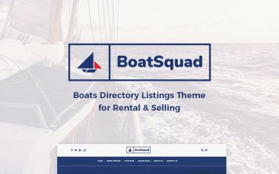 BoatSquad - Hajócímtár-listák WordPress téma