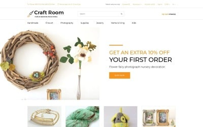 Craft Room - Handmade Responsive Stylish OpenCart Template