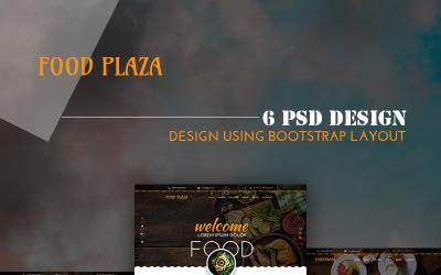 foodPlaza - Modelo PSD de restaurante multiuso