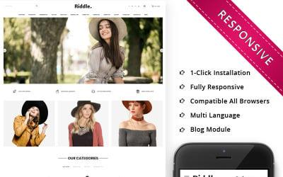 Riddle Cap Responsive OpenCart Template