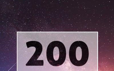 Modèle de logo de logos de typographie 200